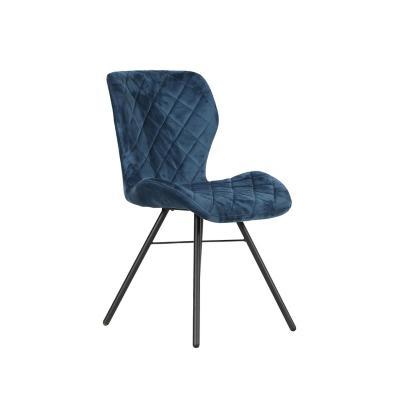 Silla Comedor Metal Azul 86x44x55,5 cm