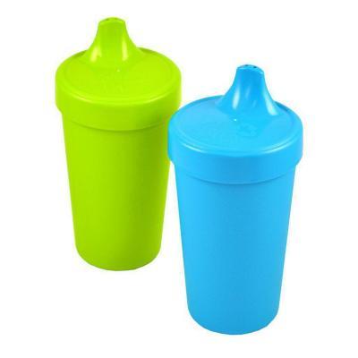 Set 2 Vasos Anti-derrame Verde Limón, Azul