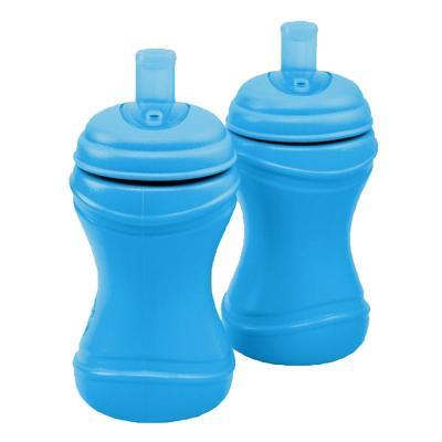 Set 2 Vasos Infantiles Bombilla Azul