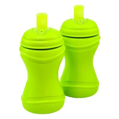 Set 2 Vasos Infantiles Bombilla Verde Limón
