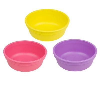 Set 3 Bowl infantil Amarillo, Fucsia, Celeste