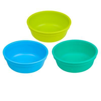 Set 3 Bowl Infantil Azul, Verde Limón, Celeste