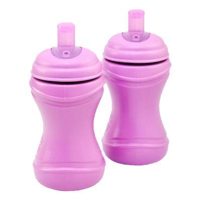 Set 2 Vasos infantiles Bombilla Morado