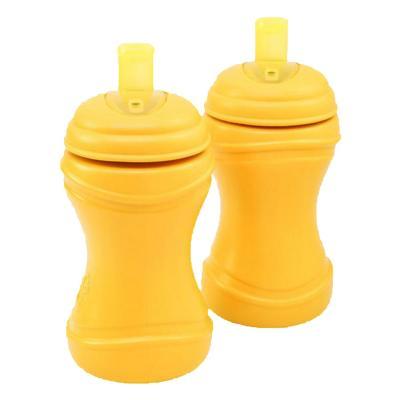 Set 2 Vasos Infantiles Bombilla Amarillo
