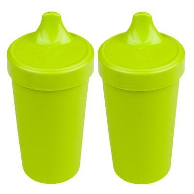 Set 2 Vasos Anti-derrame Verde Limón