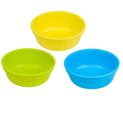 Set 3 Bowl Infantil Azul, Amarillo, Verde Limón