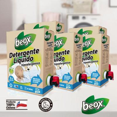 Detergente Líquido Hipoalergénico 3 Litros 5 un