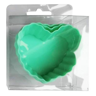 Molde silicona 55 ml corazón 6 unidades