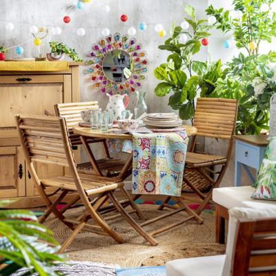 Juego comedor terraza Melody de Bambu 5 piezas
