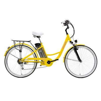 Bicicleta eléctrica city breeze aro 26 amarillo