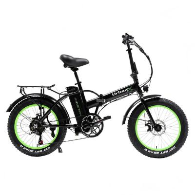 Bicicleta eléctrica urban foldable aro 20 verde