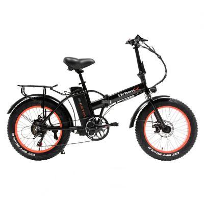 Bicicleta eléctrica urban foldable aro 20 naranjo
