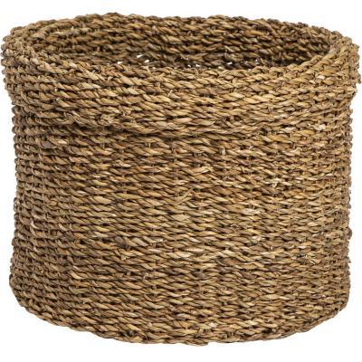 Canasto cilindro sea grass asas 28x22 cm