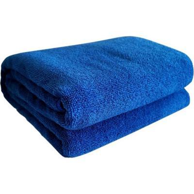 Toallon de microfibra terry azul