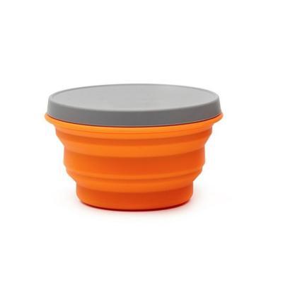 Bowl plegable 1000 ml naranjo