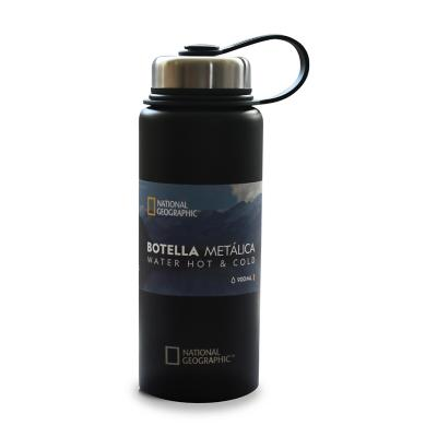 Botella metálica 900 ml negro