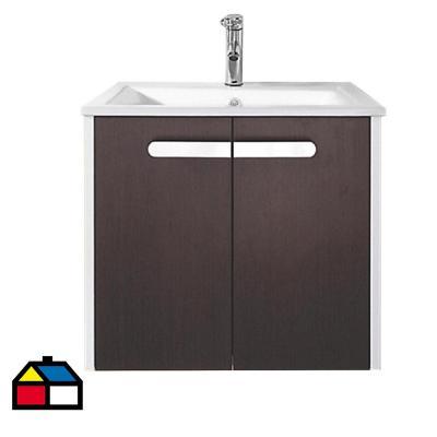 Mueble baño suspendido con lavamanos 61x47x52 cm