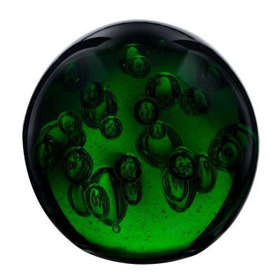Esfera de vidrio decorativa color verde 9 cm