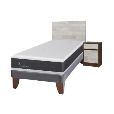 Cama europea new ortopedic 1.5 plazas + muebles