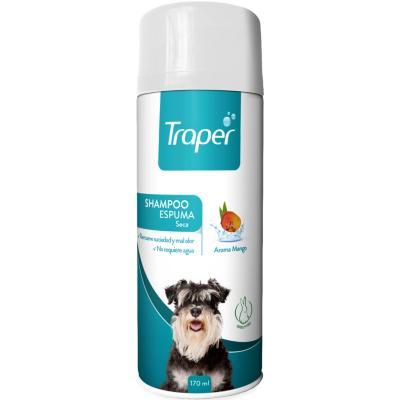 Shampoo en Espuma Seca para Perro Traper 170 ml
