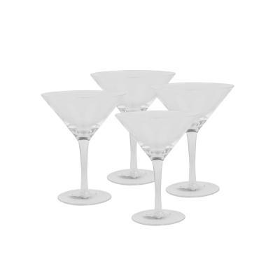 Set copas de vidrio 230 ml transparente 4 unidades