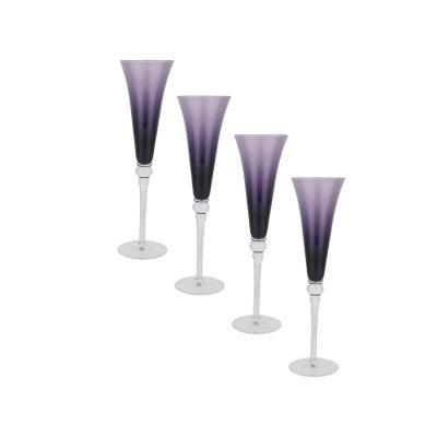 Set copas de vidrio 210 ml morado 4 unidades