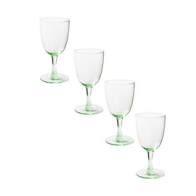 Set copas de vidrio 300 ml verde 4 unidades