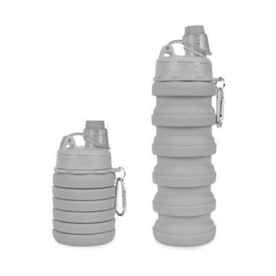 Botella plegable 500 ml gris