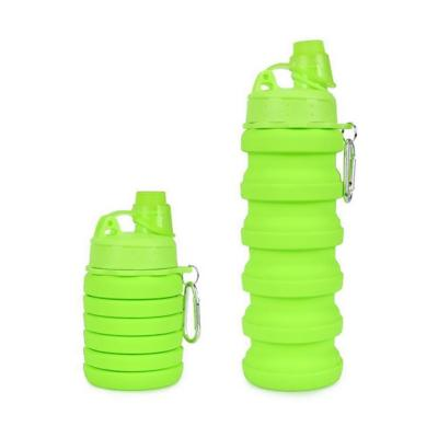 Botella plegable 500 ml verde