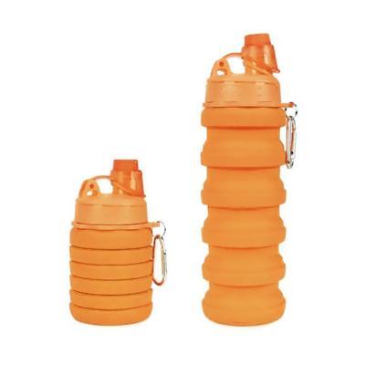 Botella plegable 500 ml naranja