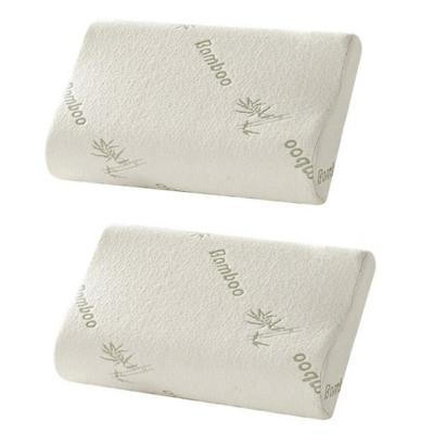 Pack 2 almohadas viscoelásticas 50x20x30 cm blanco