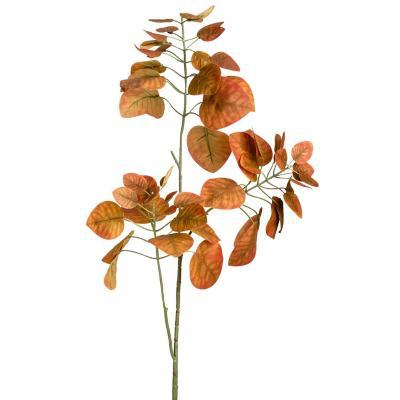 Vara artificial hojas de manzano café de 87 cm