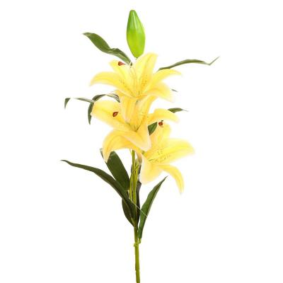 Flor artificial lilium amarillo 97 cm