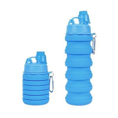 Botella plegable 500 ml azul