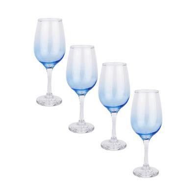 Set copas de vidrio 460 ml azul 4 unidades