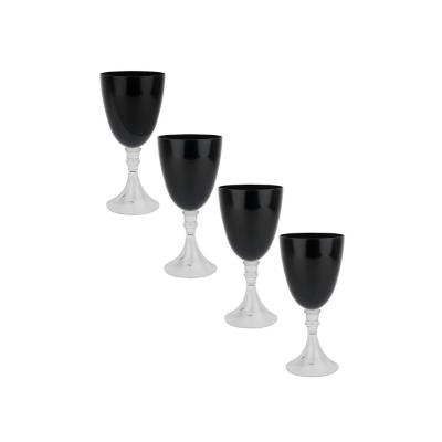 Set copas de vidrio 450 ml negro 4 unidades