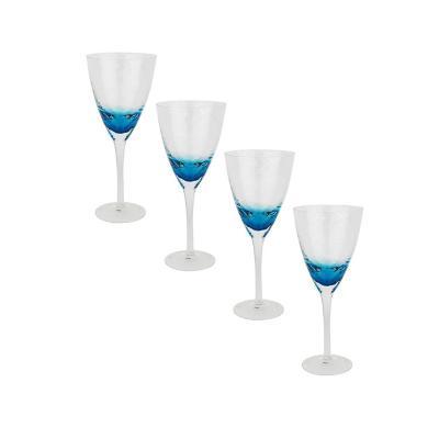Set copas de vidrio 300 ml transparente 4 unidades