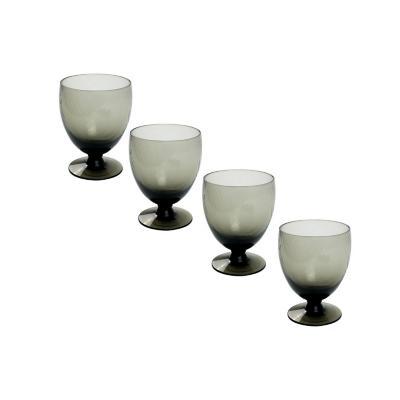 Set copas de vidrio 350 ml transparente 4 unidades