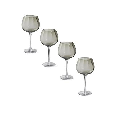 Set copas de vidrio 500 ml transparente 4 unidades