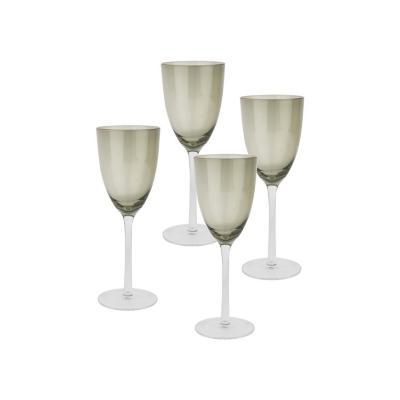 Set copas de vidrio 300 ml gris 4 unidades
