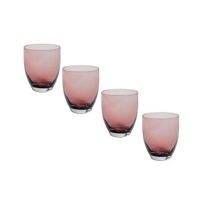 Set vasos de vidrio 400 ml transparente 4 unidades