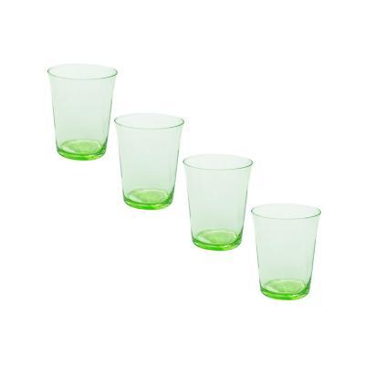 Set vasos de vidrio 350 ml transparente 4 unidades