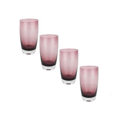 Set vasos de vidrio 600 ml transparente 4 unidades