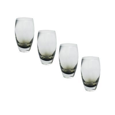 Set vasos de vidrio 550 ml gris 4 unidades