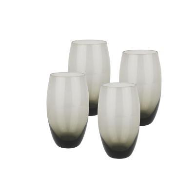 Set vasos de vidrio 700 ml gris 4 unidades