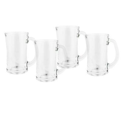 Set vasos de vidrio 310 ml transparente 4 unidades