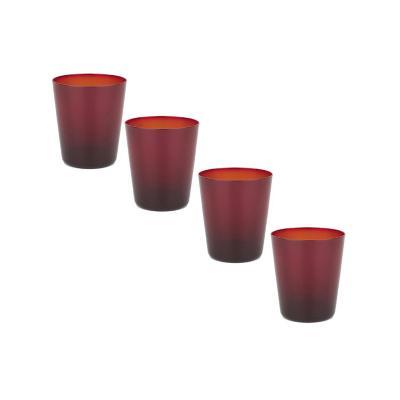 Set vasos de vidrio 420 ml transparente 4 unidades