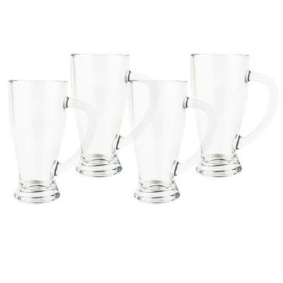 Set vasos de vidrio 430 ml transparente 4 unidades