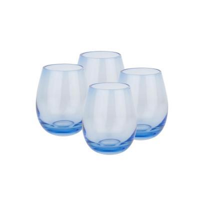 Set vasos de vidrio 360 ml transparente 4 unidades