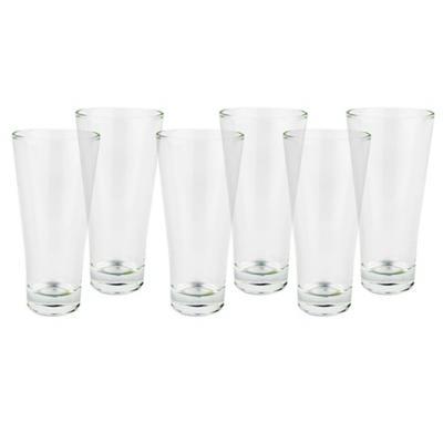 Set vasos de vidrio 380 ml transparente 6 unidades